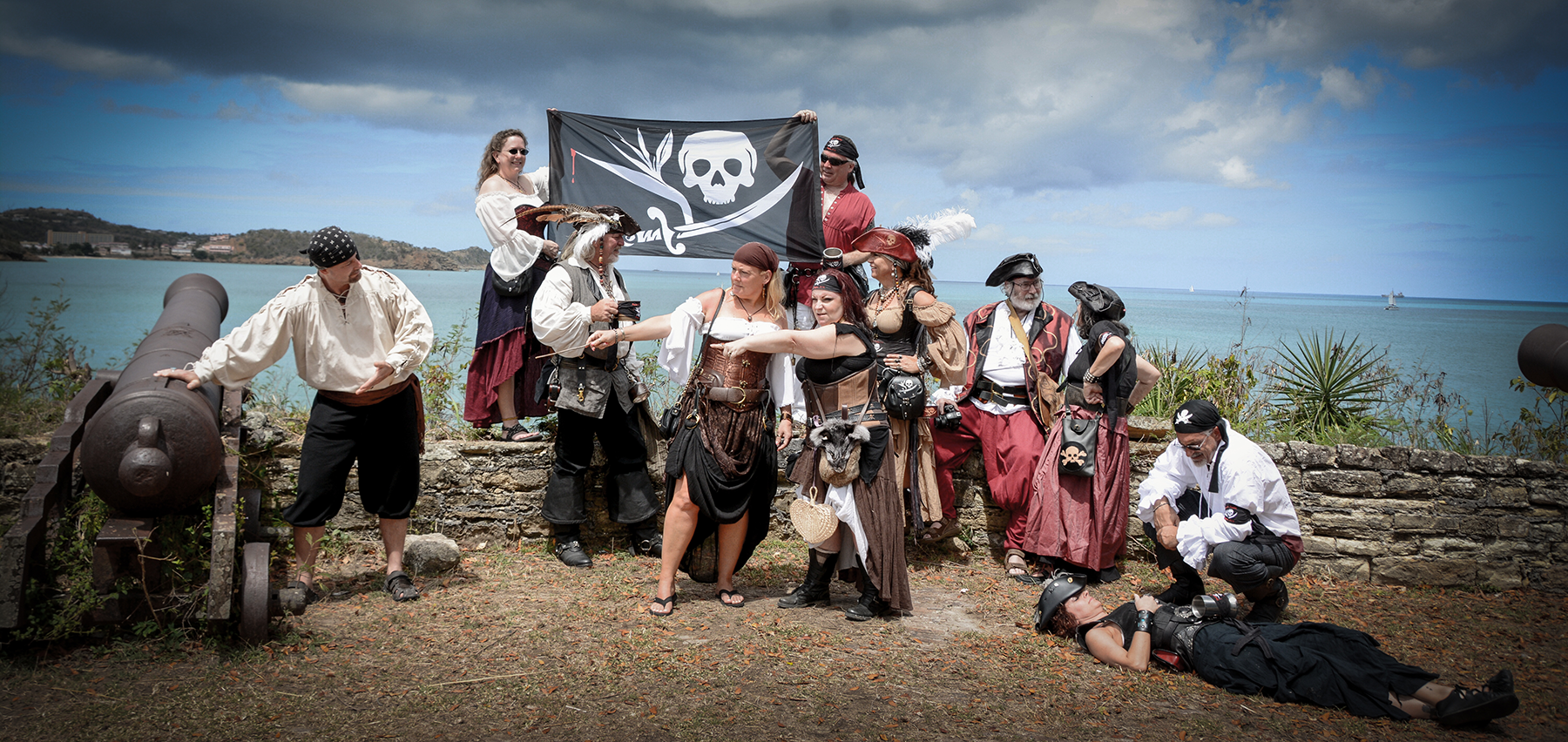 Pirates & Paradise Raid Fort James in Antigua