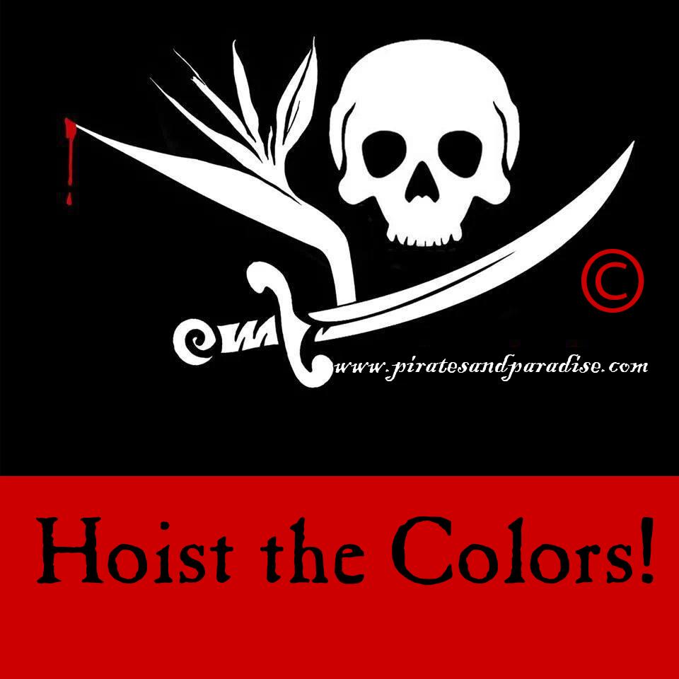 P&P hoist the colors
